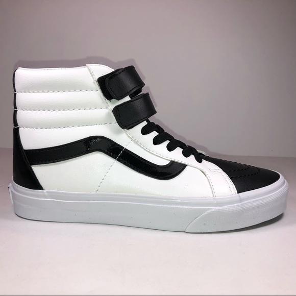 Vans Sk8 Hi V Classic Tumble White Black Sneaker  01383d24c